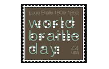 World Braille Day postage stamp