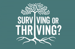 Mental Health Awareness Week 2017 logo Surviving or Thriving?