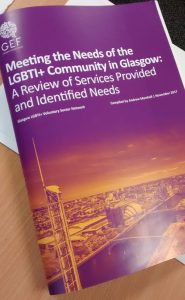 Meeting the Needs of the LGBTI+ Community in Glasgow report cover