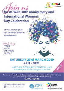 ACWA's 30th Anniversary and International Women's Day Celebration
